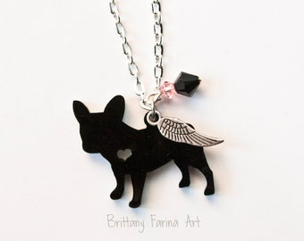 French Bulldog Art, French Bulldog Jewelry, French Bulldog Necklace, Frenchies
