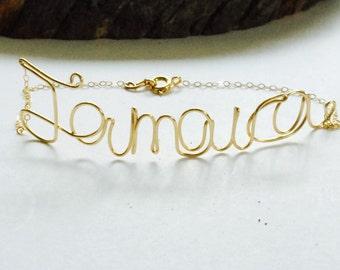 Jamaica 14k Gold Fill Wire Bracelet