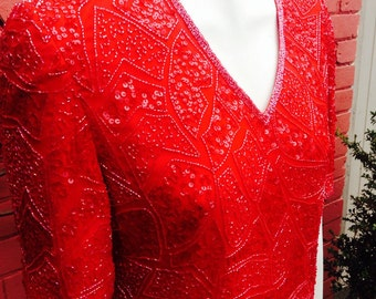 1989s beaded red top