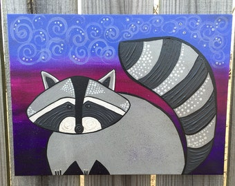 Swirly Raccoon