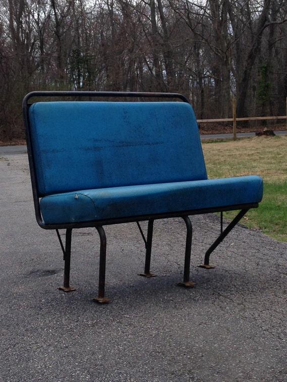 Antique Bus Seats : Vintage industrial bus seat retro by whatafindantiques