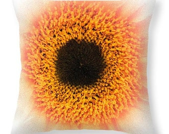 Eye Of The Daisy Throw Pillow by Artist MP