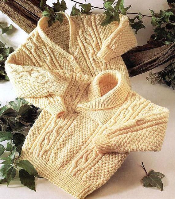 Vintage Baby Cardigan Knitting Pattern : Knit Baby Cardigan and Sweater Vintage Pattern toddler