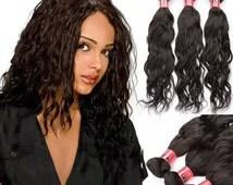 Thick naked Malaysian loose wave human hair Virgin Hair Bundle 3pcs Virgin Hair Extension hair weave hair weft Free Shipping