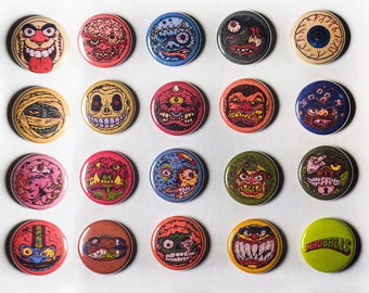 Madballs Pins Full Complete Set of 20 Pinback 1 Inch Buttons