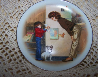 Tom Newsom for Avon collector plate Creation of love Mothers Day ~ fridge art :)