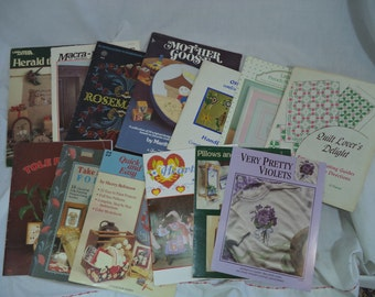 Vintage Crafting Booklets Patterns Cross Stitch Folk Art Rosemaling Quilting