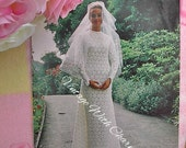 Vintage Wendy Multi-Needle Loom Pattern Stunning Floral Motif Wedding Dress. To Fit A 34in. Bust.
