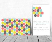 Honeycomb/Hexagon Hello INSTANT DOWNLOAD Printable Business Card
