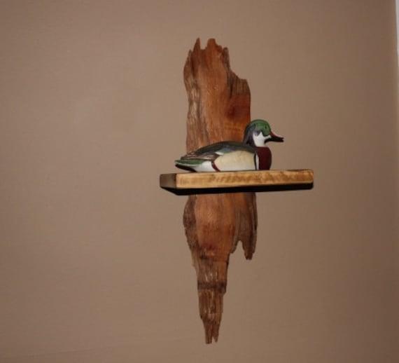 Driftwood shelf floating shelf wood shelve by reclaimedwoodusa for Driftwood wall shelves