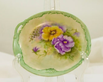 Hand painted plate.Vintage plate  Dessert plate Floral plate