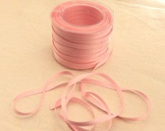 """Double faced satin ribbon pink 10 meters(10.94yds) size 6mm(1/4"""")"""