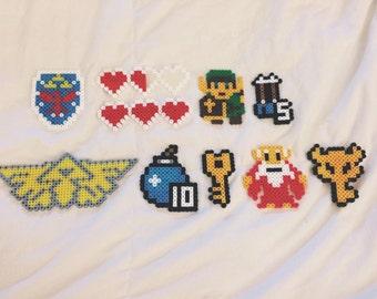 Zelda 10 Piece Perler Bead Magnet Wall Art Set