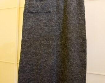 Grey mohair style pencil skirt