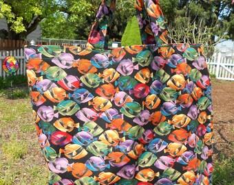 Colorful Fish Market Tote Bag