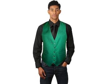 Men's emerald green dress vest