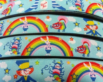 1m woven ribbon: Alice in Rainbowland