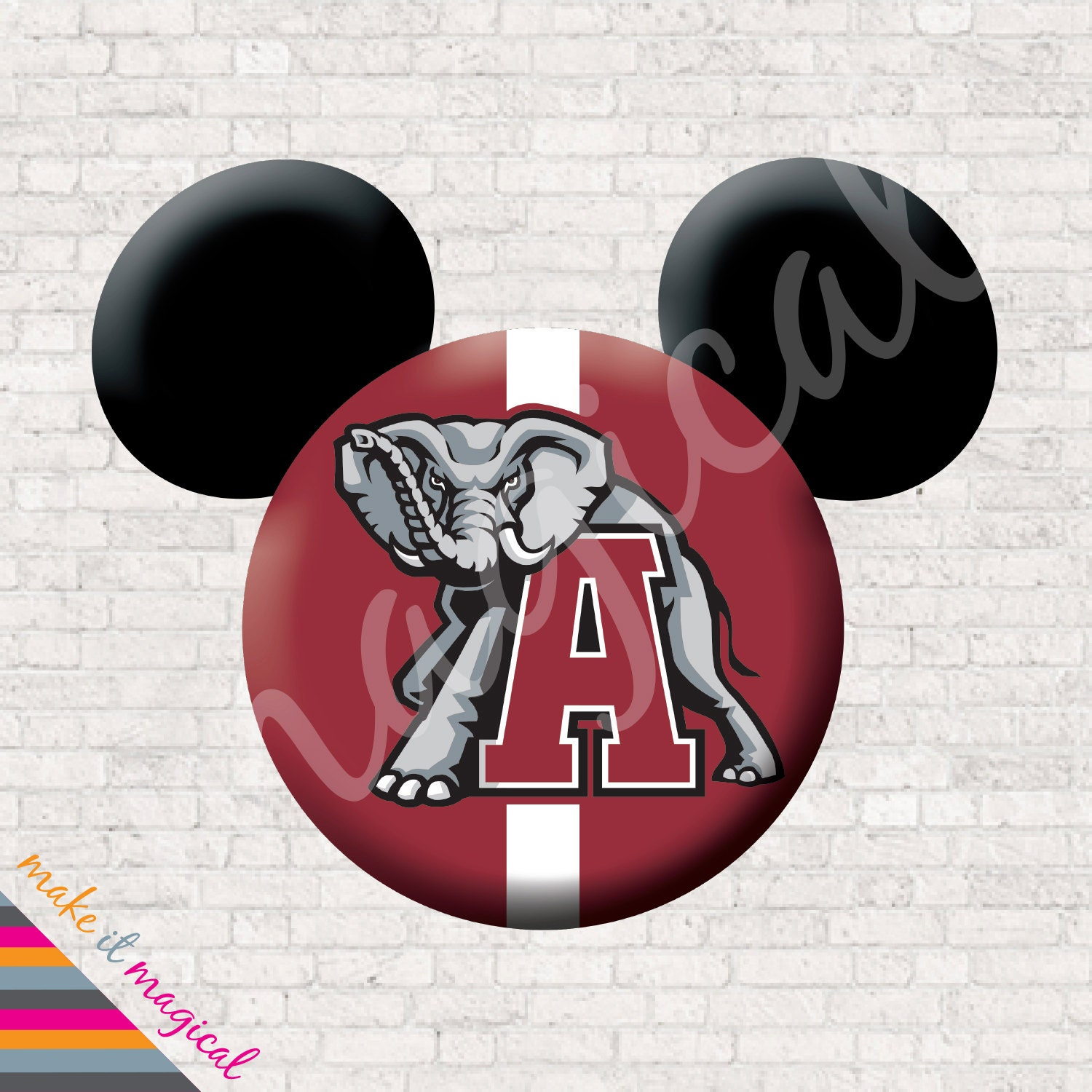 University Of Alabama Shirt Alabama Crimson Tide Mickey Mouse