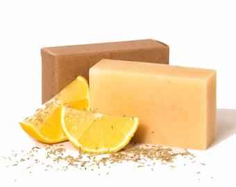 Lemongrass Tea Bar Soap, Organic Soap, Essential Oil Soap, Bath Soap, Vegan Soap, Herbal