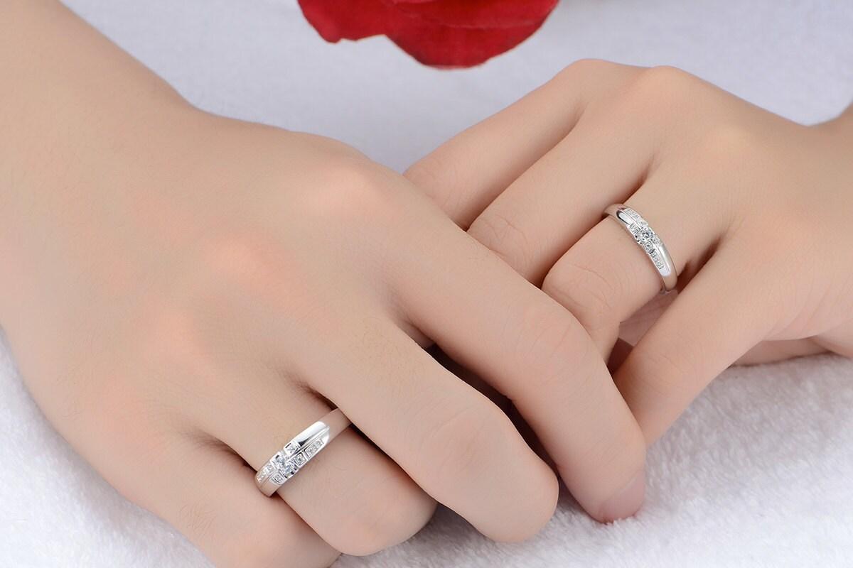 Men Women Matching Diamond Wedding Bands   Wedding Design Ideas