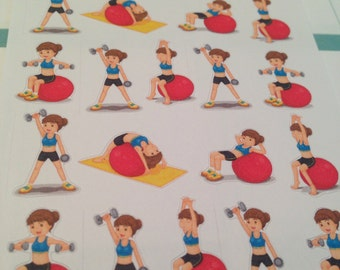 Exercise fitness stickers -  for your EC planner