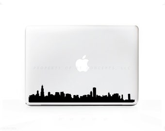 Chicago Illinois Skyline 1 Sticker Decal for Mac Laptops - PC, iPad & iPhone Versions Available too.