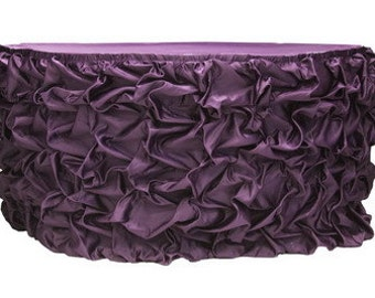 Further 50% off!!! Lavish Puffy Rouched Silky Satin Table Skirt- Various Colors and Sizes Available