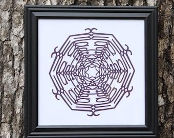 Basic framing:  10x10 frame and snowflake