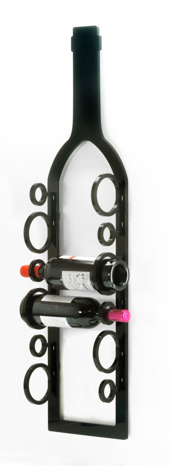 Items Similar To Wall Mounted Wine Rack Acrylic Wine