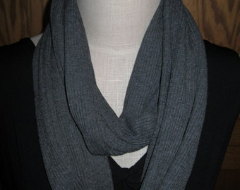 FREE SHIPPING**Infinity Scarf Gray knit
