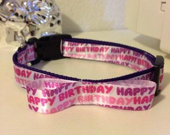 Girl- birthday collar