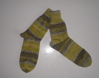 Adult socks - size 38/39 - variegated anise color