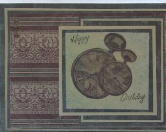 Antique Watches Birthday Card, Happy Birthday