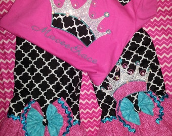 cute ruffle pants set--crowning wear