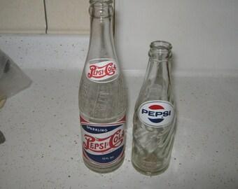 Vintage Pepsi Double dot and 6.5 oz 60's bottles