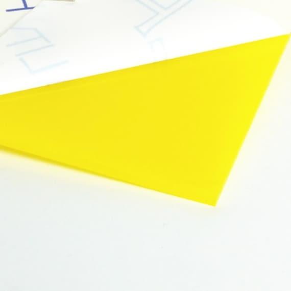 Yellow Gloss Acrylic Sheet Plexiglass Perspex Plastic 0 12