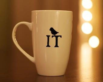 Put A Bird On It hand-painted mug