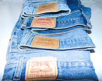 Levi Vintage high waisted Denim Shorts, Boho festival shorts, distressed and decorative Levi's shorts, Denim high waisted, white Wash shorts