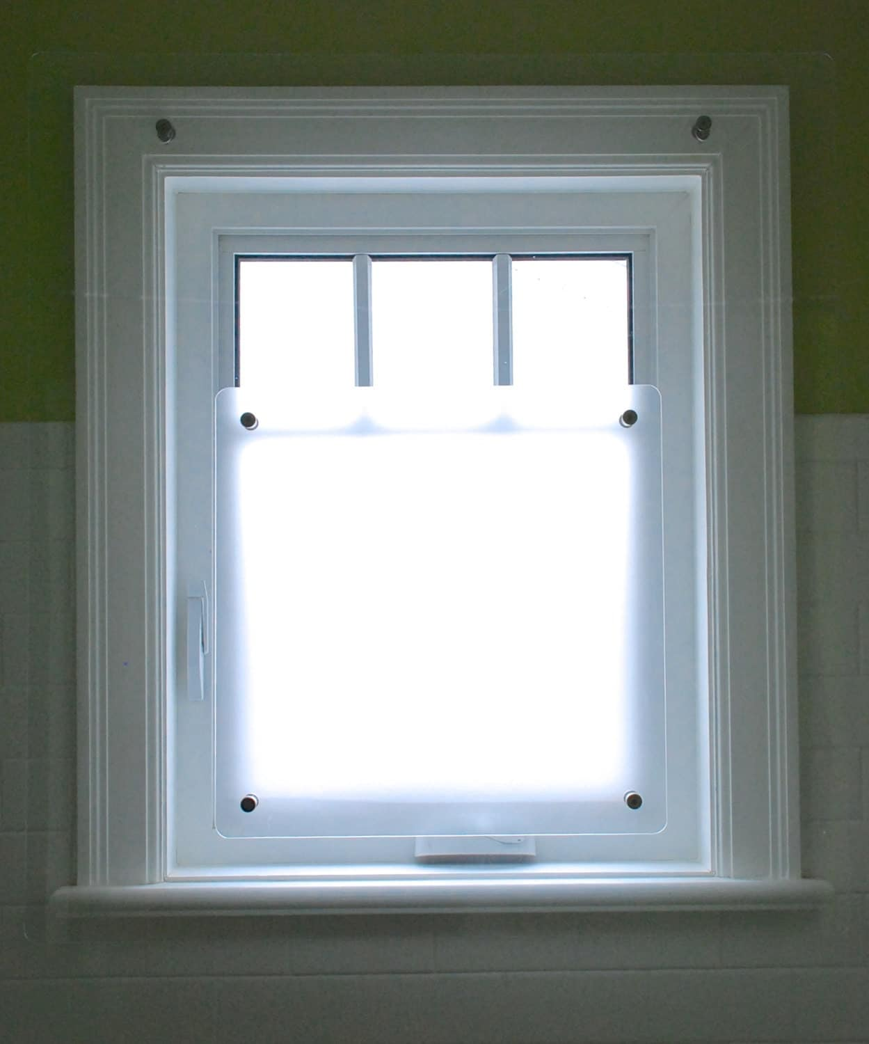 Shower Window Screen Protects Your Window And Woodwork But