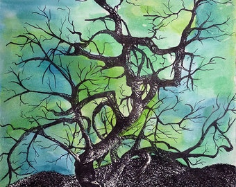 Twisted Tree Art Print