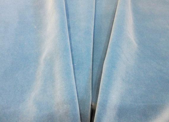 Light Blue Velvet Fabric 100 Fr Polyester Upholstery Fabric