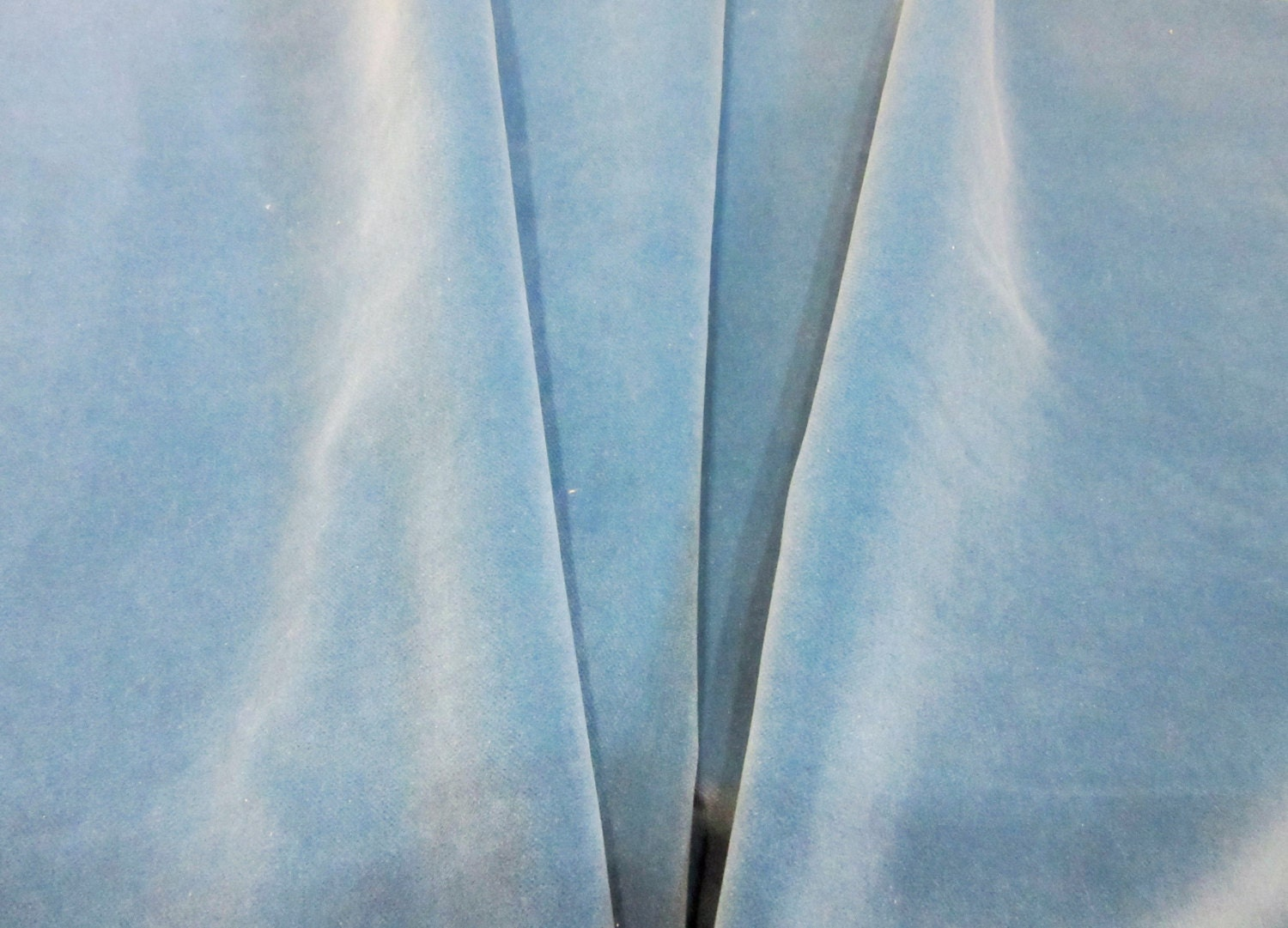 Light Blue Velvet Fabric 100 Fr Polyester Upholstery Fabric