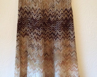Amazing wool Vintage 70s Knitted Maxi Skirt XS/S