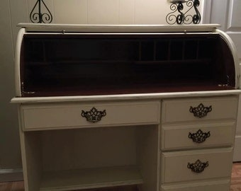 Sold Beautiful Rolltop Desk Hand Painted With Annie Sloan