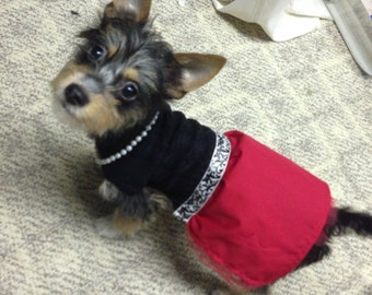 Red and black dog dress