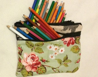 Plush soft material pencil case / coin bag