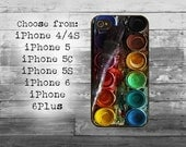 Used watercolors cover - iPhone 4/4S, iPhone 5/5S/5C, iPhone 6/6+, iPhone 6s/6s Plus case - watercolor set box iPhone case
