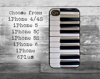 Piano keyboard phone cover - iPhone 4/4S, iPhone 5/5S/5C, iPhone 6/6+,  iPhone 6s/6s Plus case - piano keys iPhone case