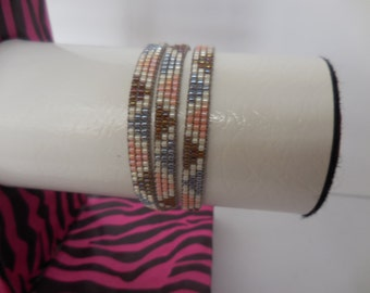 Modern colours Delica beads bracelet