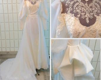 1980's Vintage Wedding Dress